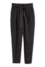 Tie-belt trousers - Black - Ladies | H&M 2